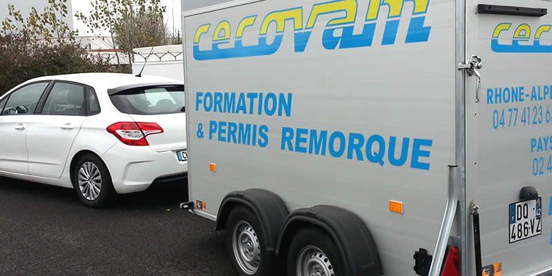 Formation permis B96 remorque