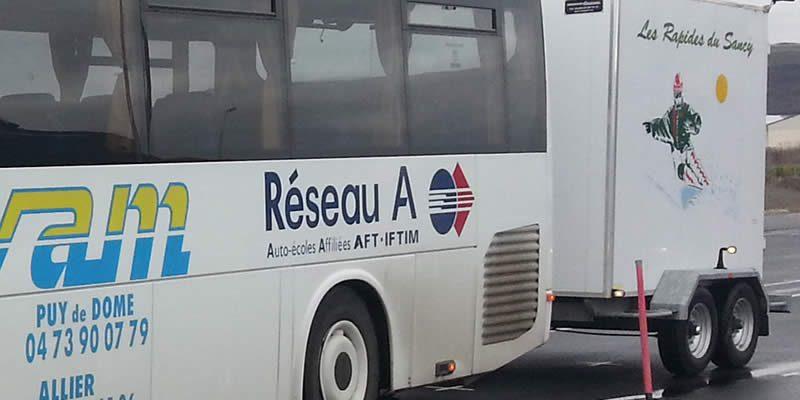 Formation permis DE autocar avec remorque