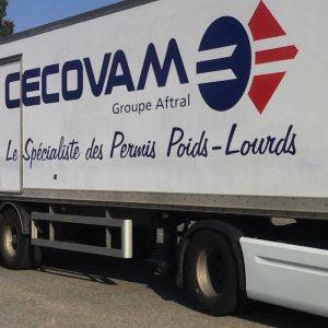 Les permis poids lourd dispensés chez Cecovam