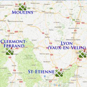 Les centres Cecovam en Auvergne et Rhône-Alpes